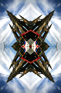 Abstract contemporary architecture based photography of Edinburgh, Scotland.
