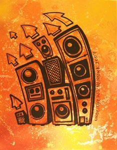 Sound System Paintings and Prints