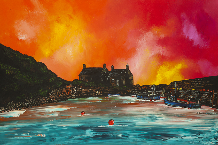 Cove Bay, Scotland, Paintings and prints