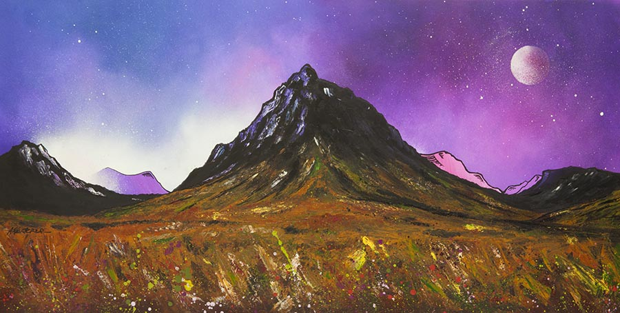Glencoe, Buachaille etive mor and glen etive painting and prints