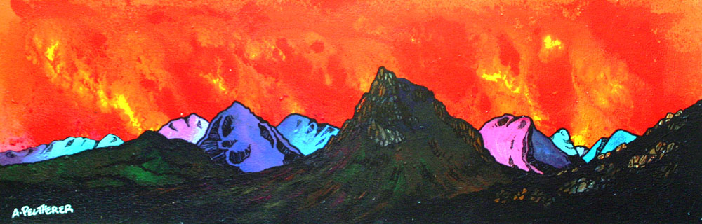 Glencoe painting and prints, Scotland.