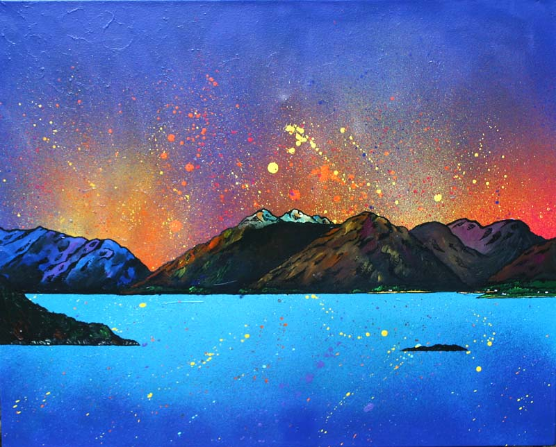 Garbh Bheinn across the Loch Linnhe, Argyll, Scottish Highlands. Painting and prints