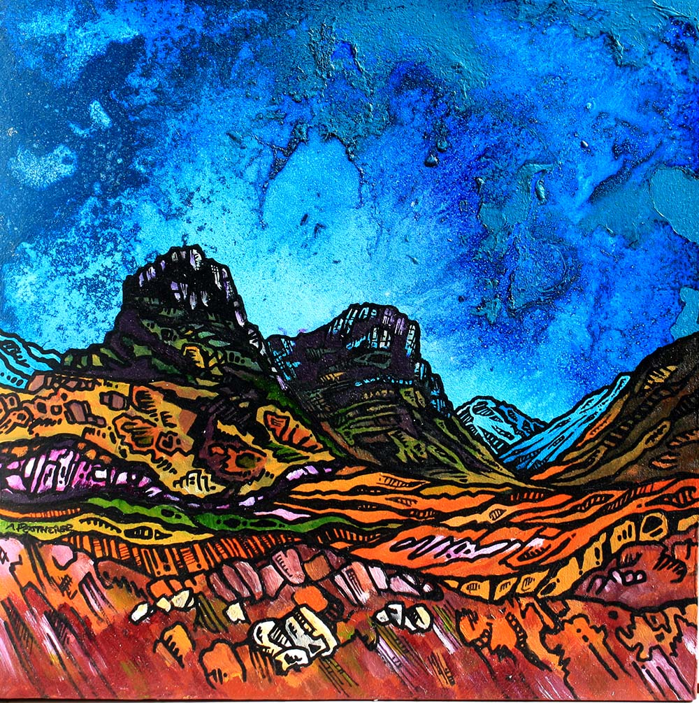 Three Sisters of Glencoe painting and prints, scotland