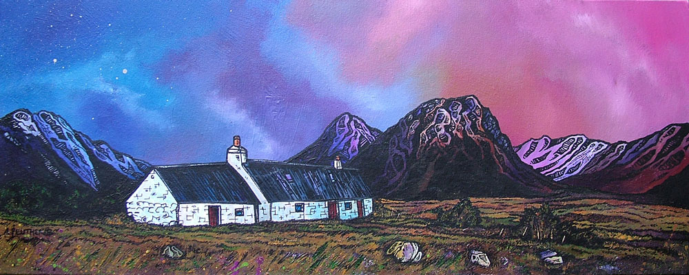 scottish contemporary landscape paintings by scottish Glasgow based artist andy peutherer, stunning mountain, sea and sky scapes of The Scottish Western Isles, Scottish Highlands and the Inner and Outer Hebridean Islands such as The Isle of Arran, The isle of Islay, Isle of Jura, The Isle of Skye, North and South Uist, Lewis and Harris.