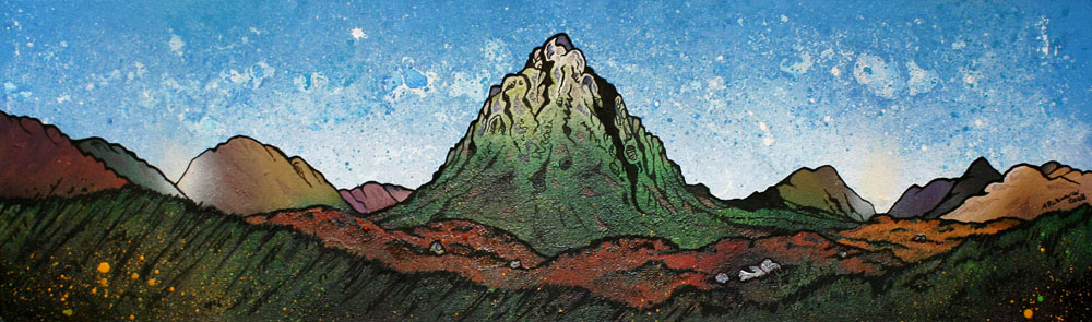Buachaille etive mor and glancoe painting and prints