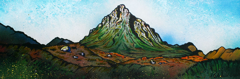Painting and prints of buachaille etive mor, glencoe and glen etive, scotland
