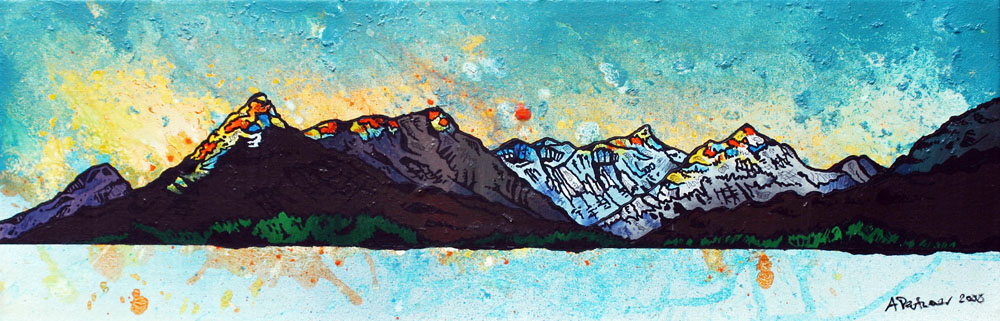 Painting and prints of Glen coe and the pap from Loch leven, Scotland