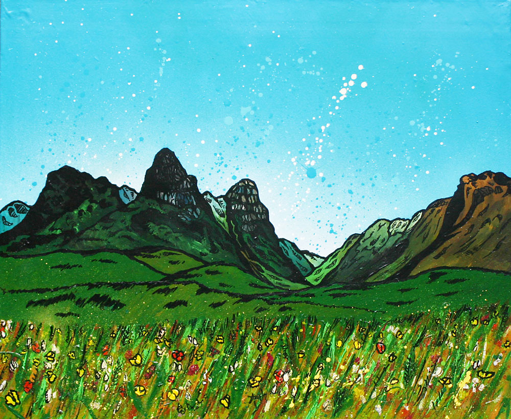 pass of Glencoe, Scotland an original painting and prints