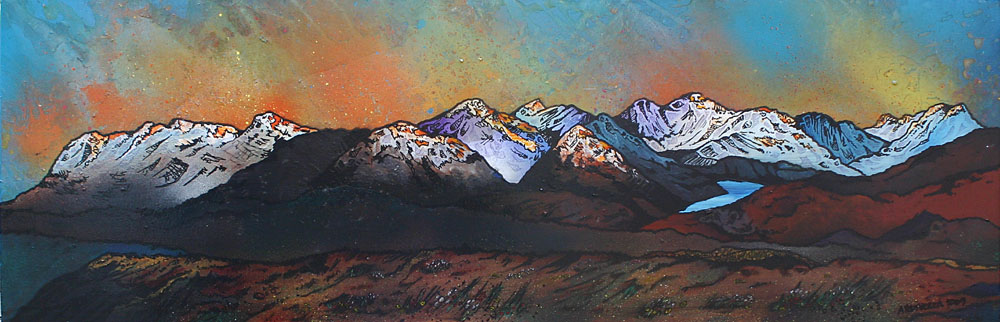 Scottish Painting and prints of Beinn Dearg Monaliath, Scottish highlands.
