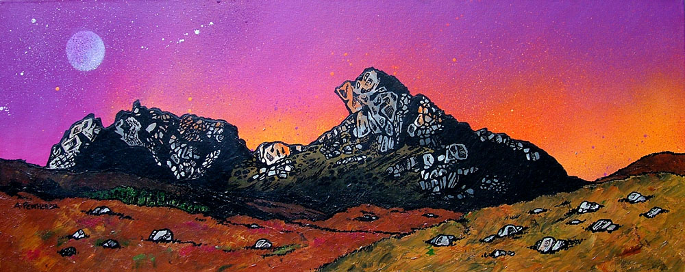 The Cobbler, Arrochar, Scotland, painting and prints