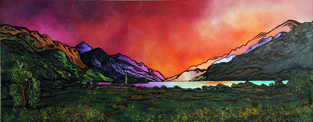 Glenfinnan Scotland. Painting and prints.