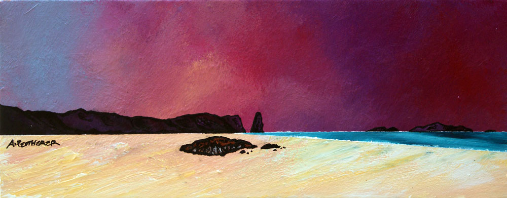 Scottish Painting and prints of Sandwood Bay Summer Sky, Sutherland, Scotland.