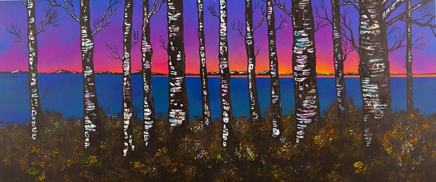 Loch lomond Birch Woods painting and prints