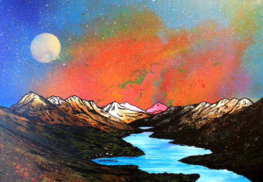 Loch lomond, Scotland, trossachs. painting and prints