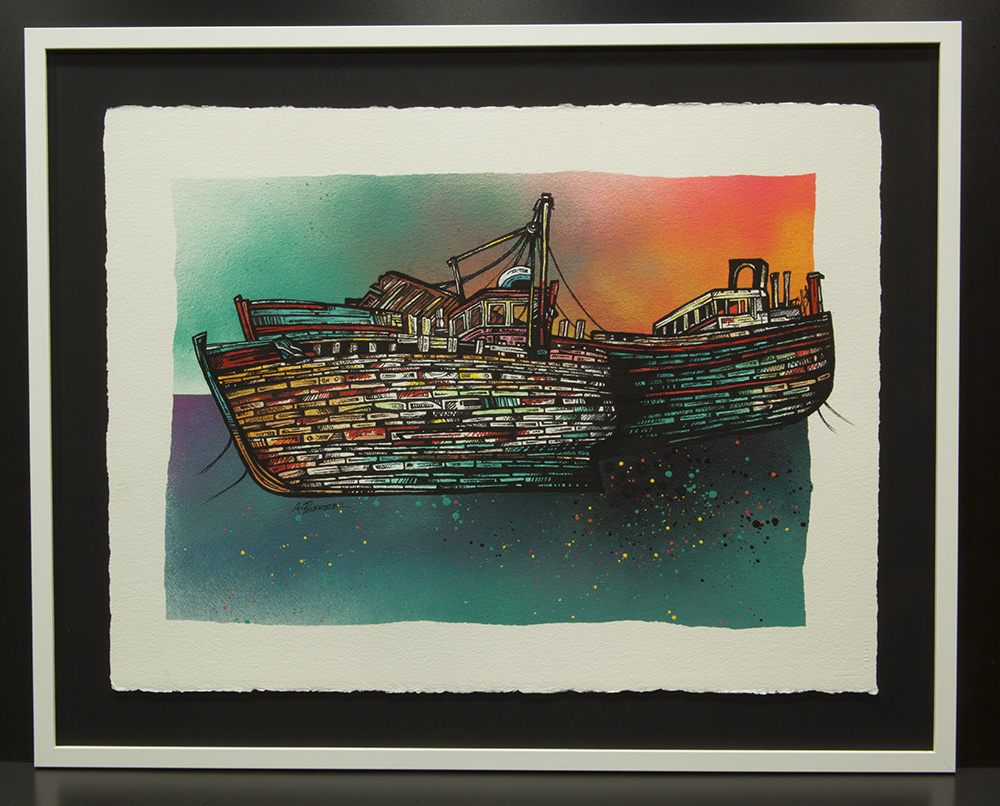 Scottish painting & prints of Salen Boats, Mull, Hebrides, Scotland