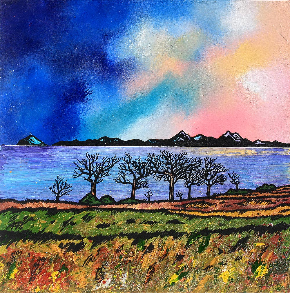 Arran from Ayrshire, Scotland painting and prints