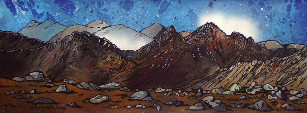 arran, goat fell,  Ayrshire, Scotland Painting and prints.