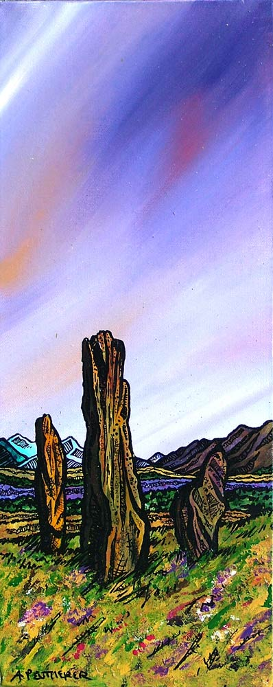 arran, standing stones, machrie moor, Ayrshire, Scotland Painting and prints.