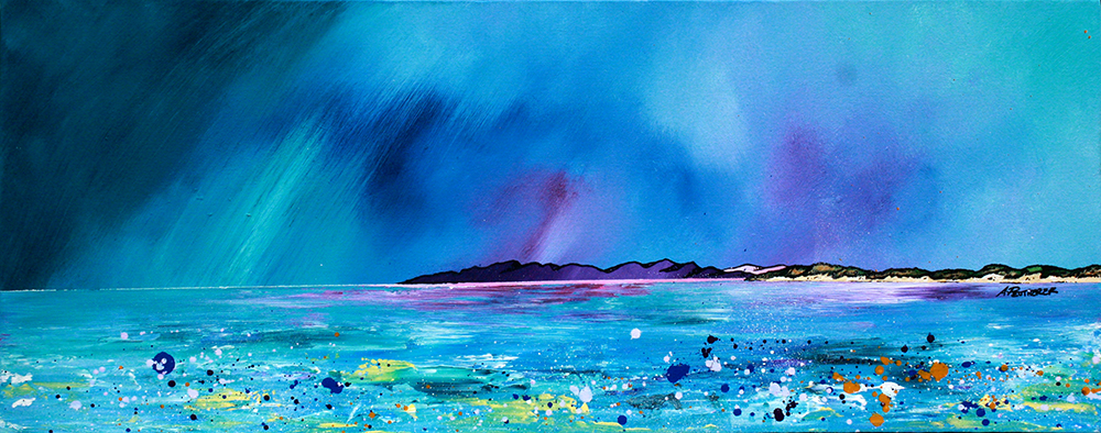 An original commissioned painting on canvas of Balephuil Beach, Isle of Tiree, Scotland