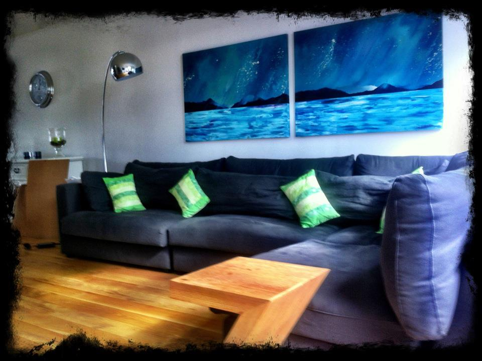 Commissioned double canvas painting of Loch lomond