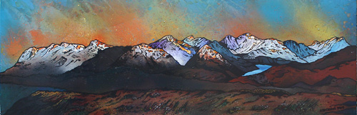 Contemporary Scottish landscape painting of the view from carn dearg.
