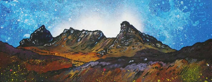 Contemporary Scottish landscape painting of The Cobbler, Arrochar, West Scottish Highlands