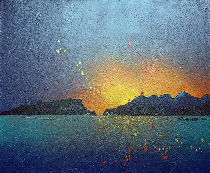 Scottish painting and prints of Eigg and Rum, Hebrides, Scotland