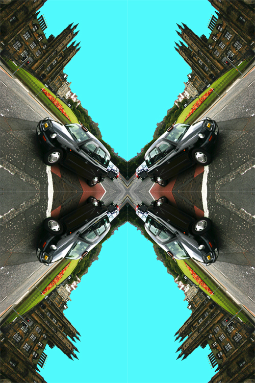 Contemporary Abstrat Photography image of The Assembly Hall, The Mound And Taxi X