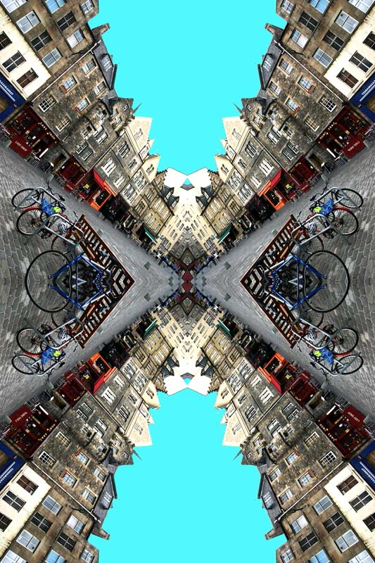 Contemporary Abstrat Photography image of Edinburgh Grass Market Bikes X