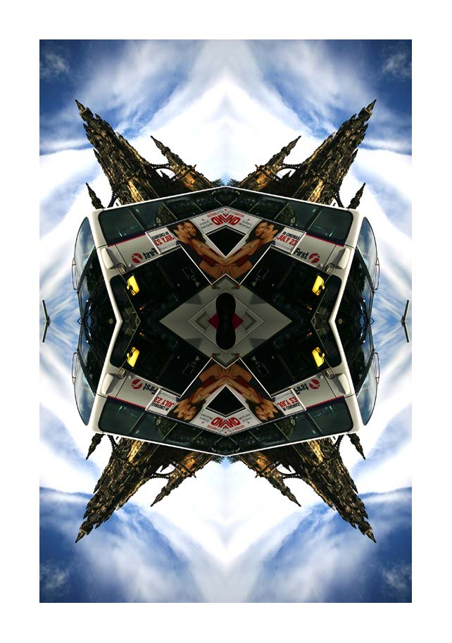 Contemporary Abstrat Photography image of Scott Monument Bus 2 X