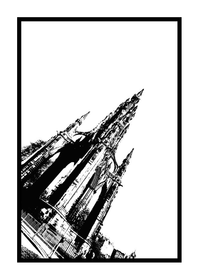 Contemporary Abstrat Photography image of Scott Monument Stencil