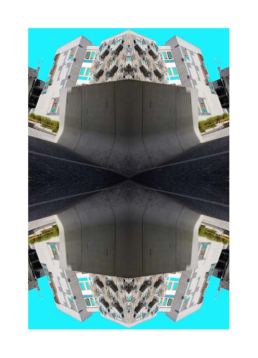 Contemporary Abstrat Photography image of The think Pods X at the Scottish Parliment , Edinburgh, Scotland.