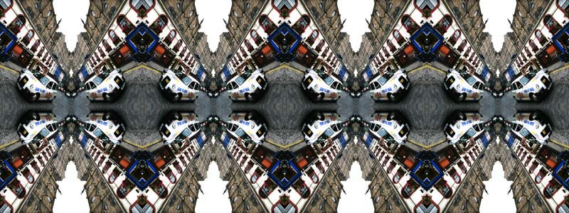 Contemporary Abstrat Photography image of Victoria Street White Taxi X